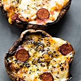 Pepperoni Pizza Stuffed Portobello Mushrooms