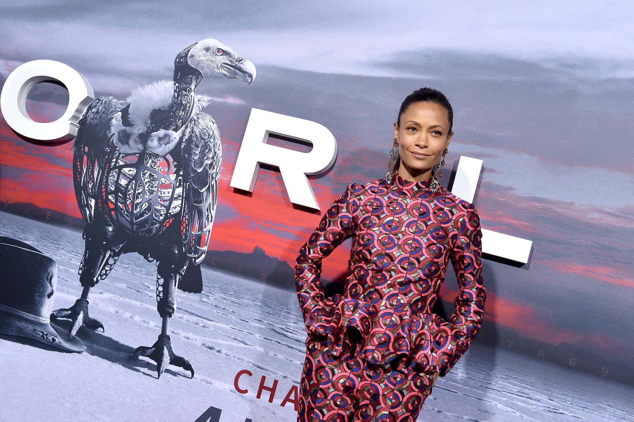 LOS ANGELES, CA - APRIL 16:  Actress Thandie Newton arrives at the Los Angeles premiere of HBO's 'Westworld' season 2 at The Cinerama Dome on April 16, 2018 in Los Angeles, California.  (Photo by Axelle/Bauer-Griffin/FilmMagic)