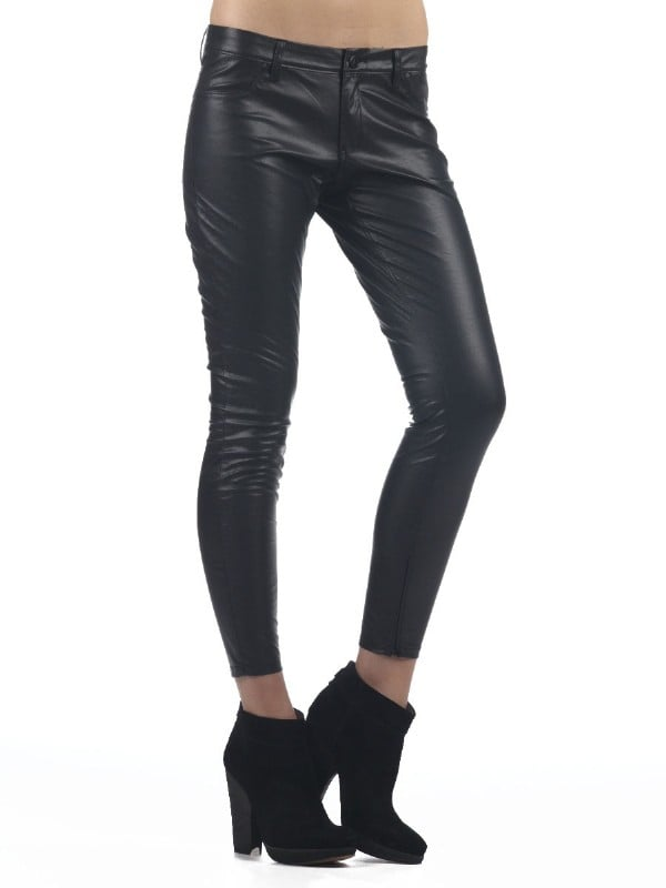 A pair of leather pants are a cool update, and unlike our blue jeans, they'll provide a sleeker contrast to cozy knits.  Blank NYC Vegan Leather Super Skinny ($88)