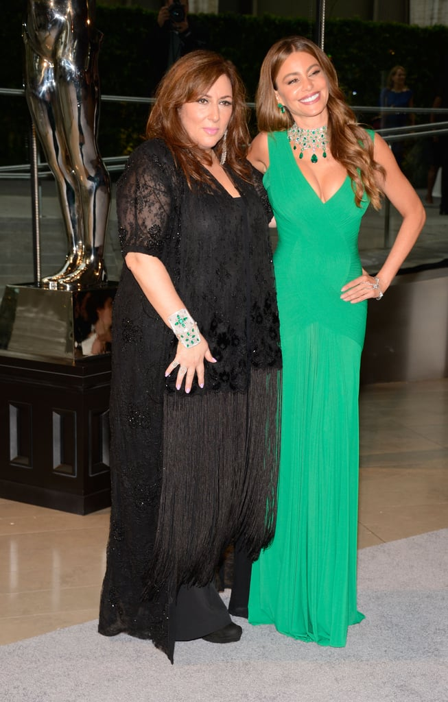 Sofia Vergara posed with jewelry designer Lorraine Schwartz.