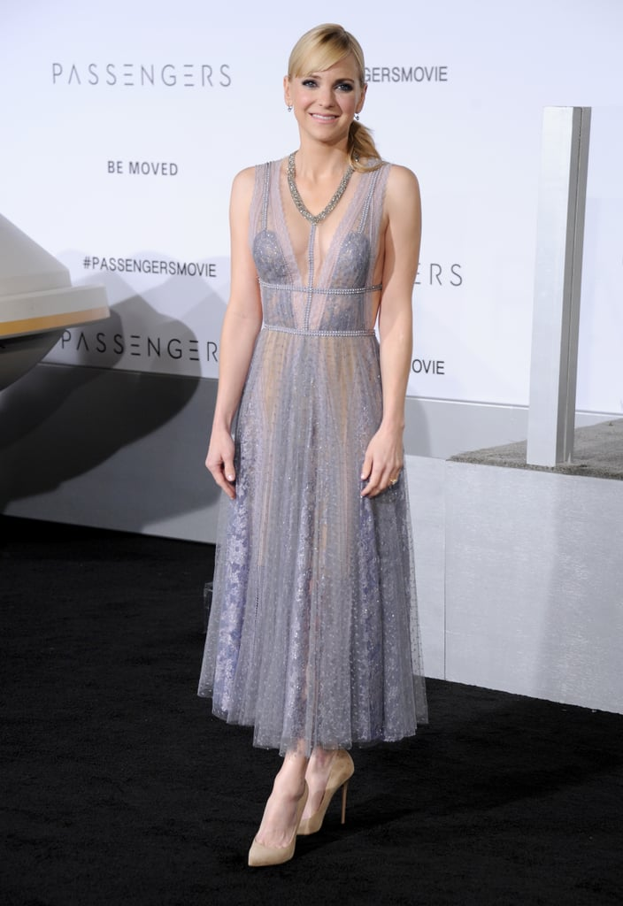 For the Special Night, Anna Wore a Reem Acra Dress With Nude Pumps