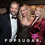 Jennifer Lawrence and Emma Stone at the 2018 Oscars