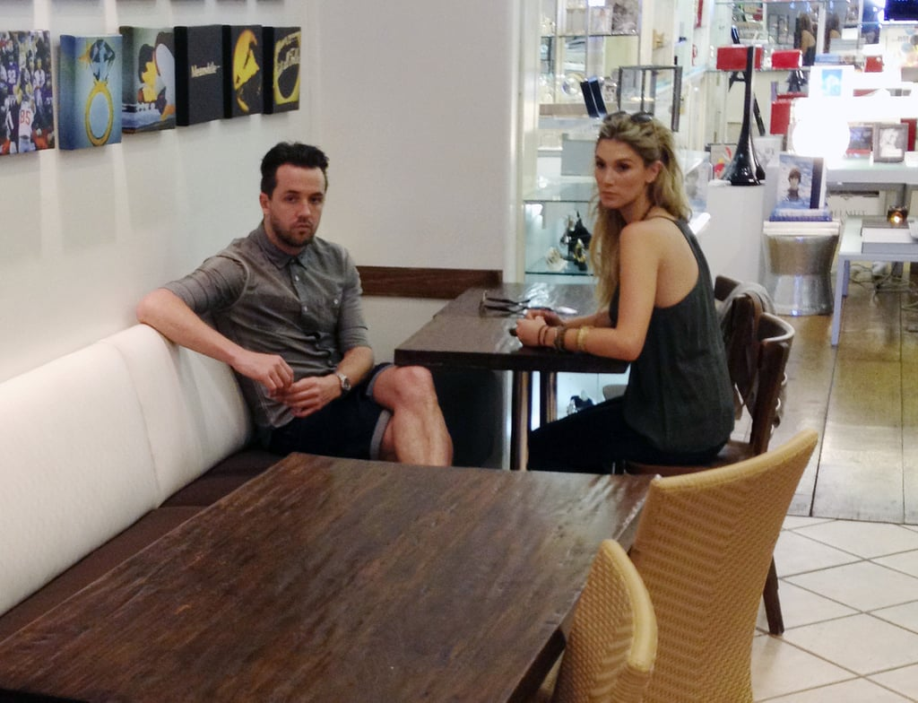 Darren McMullen and Delta Goodrem had lunch in LA.