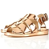 We love that this sleek pair is casual and comfy enough to wear every day, seriously. Just add them to an LWD for a carefree-cool style.  Topshop Pastiche Metallic Sandals ($140)