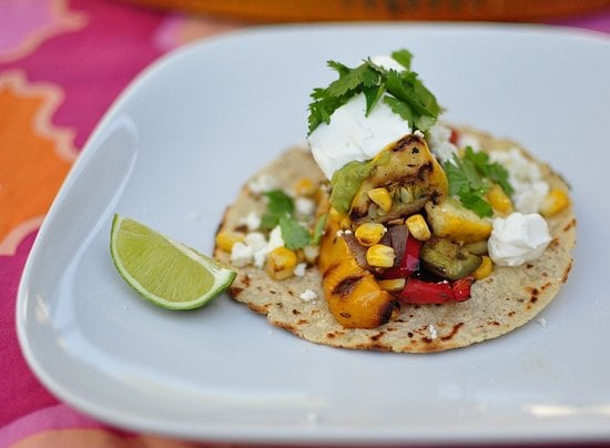 Veggie Tacos With Grilled Guacamole