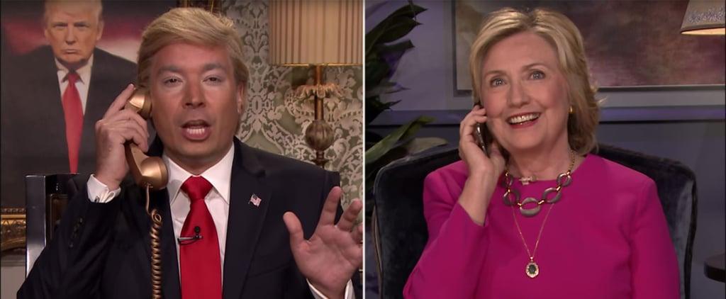 Hillary Clinton Donald Trump Phone Call on Jimmy Fallon