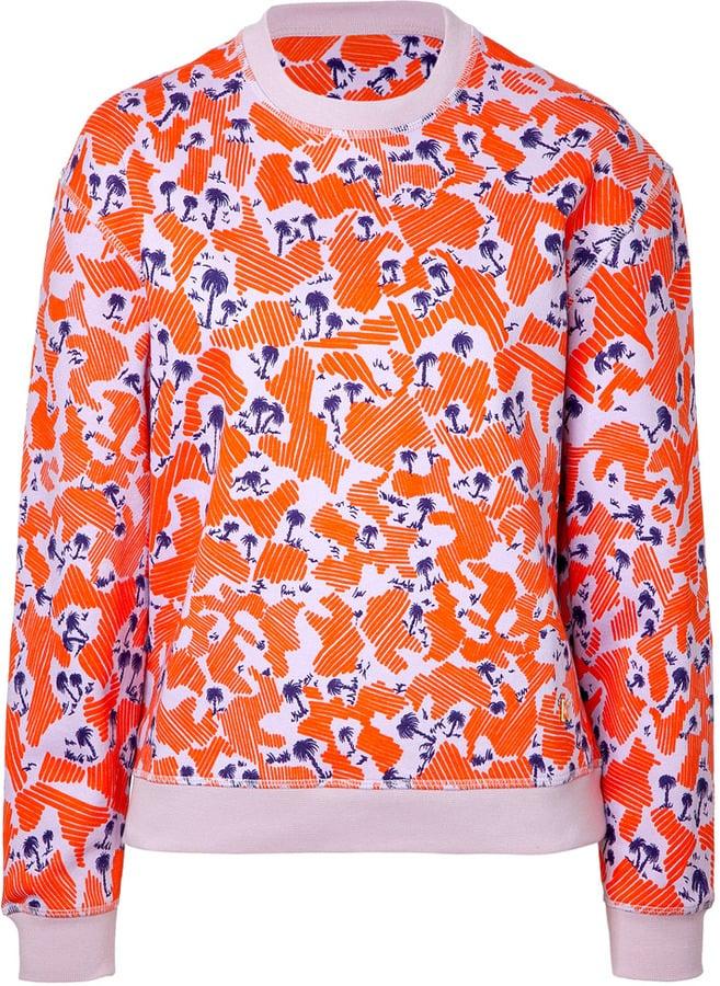 Kenzo Cotton Palm Print Sweatshirt
