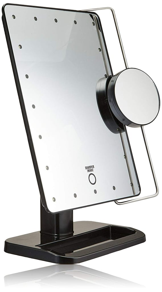 Sharper Image Cordless Led Vanity Mirror And Charging Station