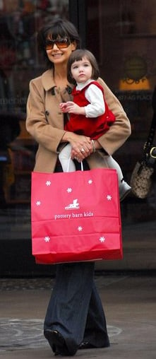 Katie Holmes and Suri Cruise Shopping at The Grove
