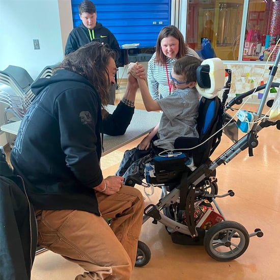 Jason Momoa Visits Patients at the UPMC Children's Hospital