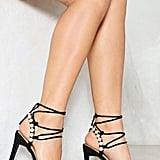 Nasty Gal Pearl Embellished Heeled Sandal