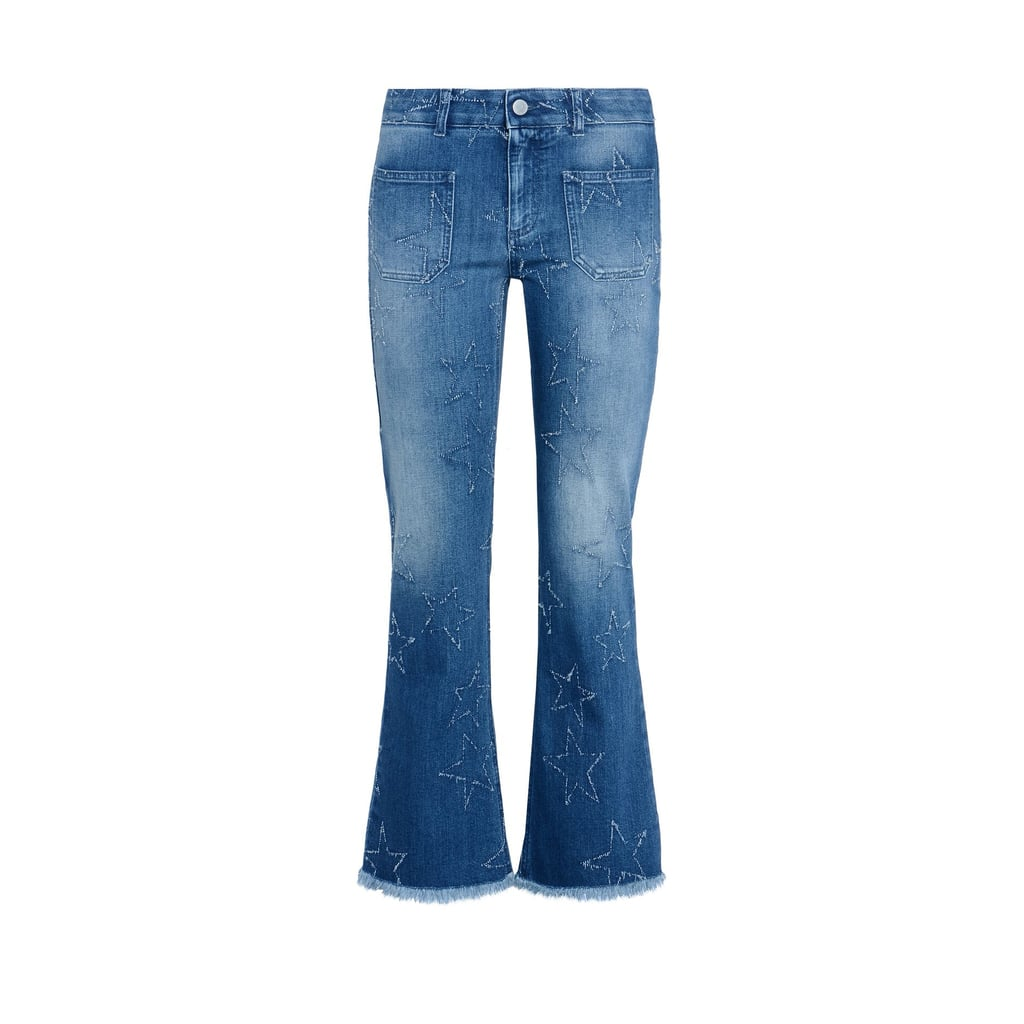 Stella McCartney 'Fringed Stars' Skinny Kick Flare Jean ($520)
