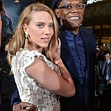 Scarlett hung out with Samuel L. Jackson.