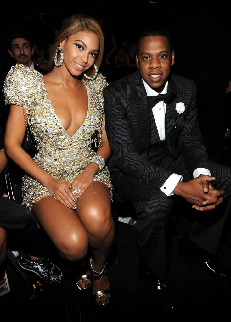 At the 2010 Grammy Awards, all eyes were on Beyoncé in her plunging metallic Armani Privé minidress, but Jay Z looked pretty good in his tuxedo, too.