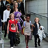 Angelina Jolie and her kids arrived at Sydney Airport on Sept. 6.