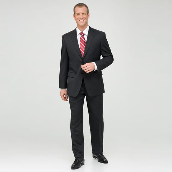 Charcoal Single Pleat Wool Suit