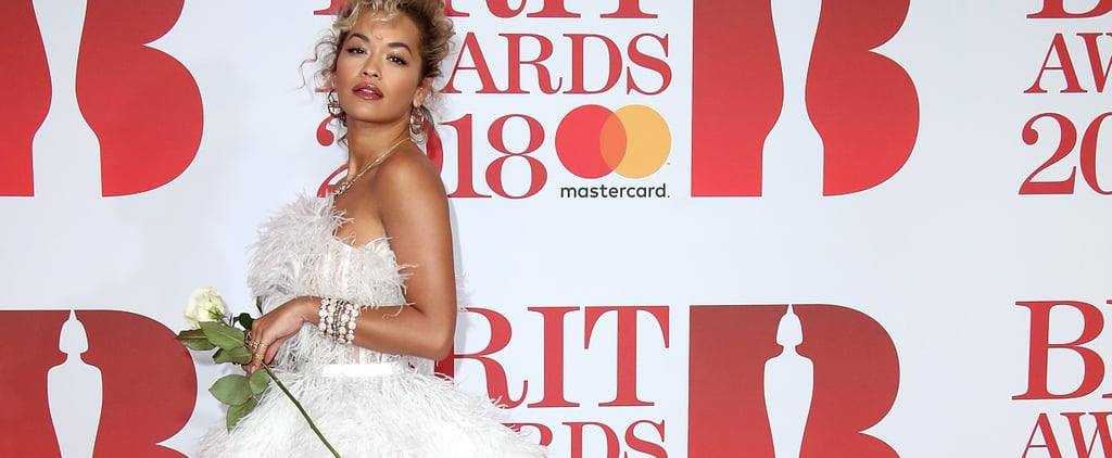 Stars Didn't Just Carry White Roses to the Brit Awards, They Wore Looks Inspired by Them Too