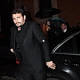 James Franco stepped out of a car looking dapper.