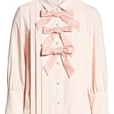 Bow Front Pleated Blouse