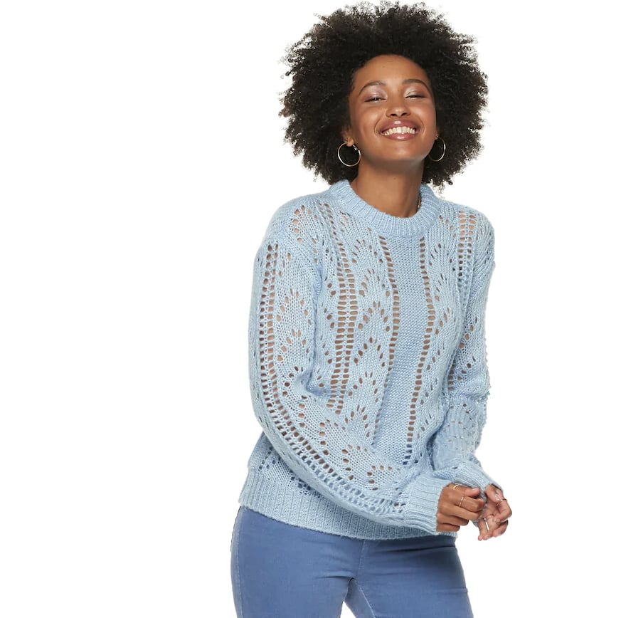 POPSUGAR at Kohl's Collection Pointelle Sweater