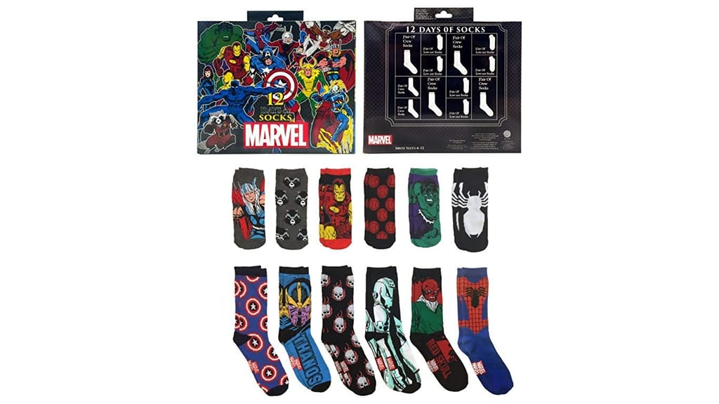 marvel 12 days of socks advent calendar gift set