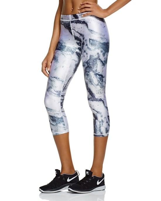 Zara Terez Cropped Marble-Print Leggings ($73)