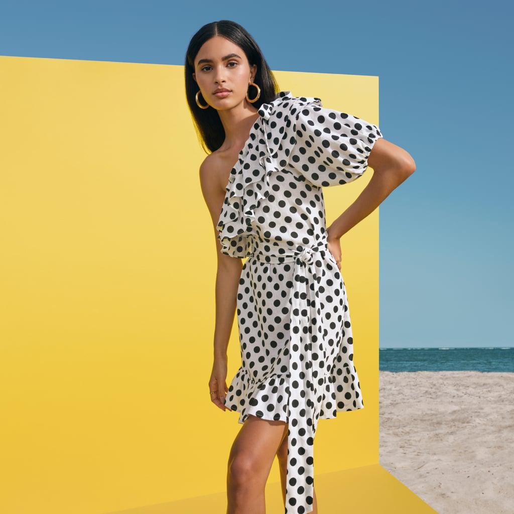 Lisa Marie Fernandez for Target Polka Dot One Shoulder Dress
