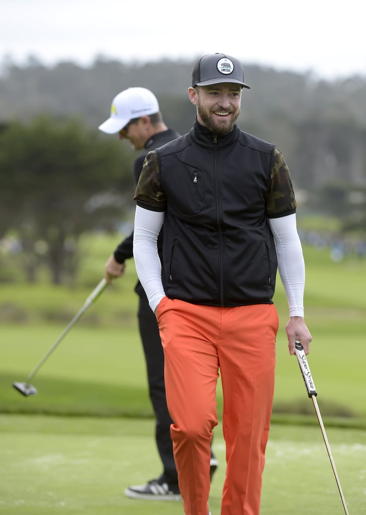 Justin Timberlake at the Pebble Beach Pro-Am 2017 ...