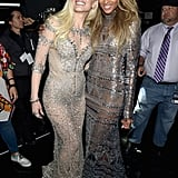 Gwen and Ciara Posing Backstage in Their Sheer Dresses