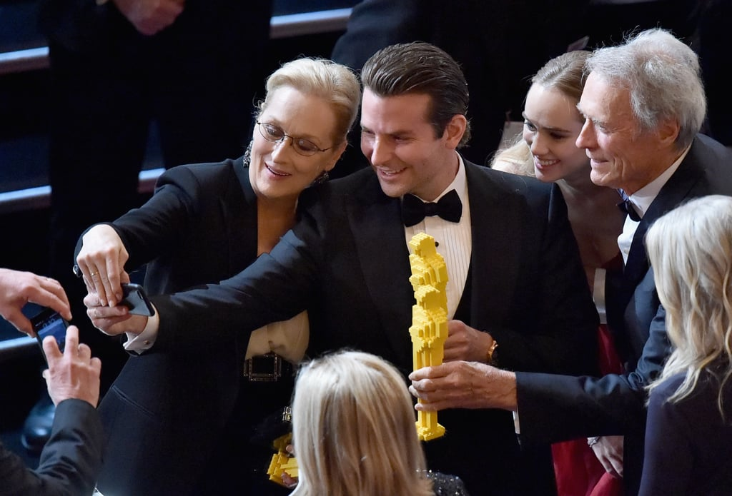 Bradley and Meryl Took the Oscars Selfie Into Their Own Hands This Year
