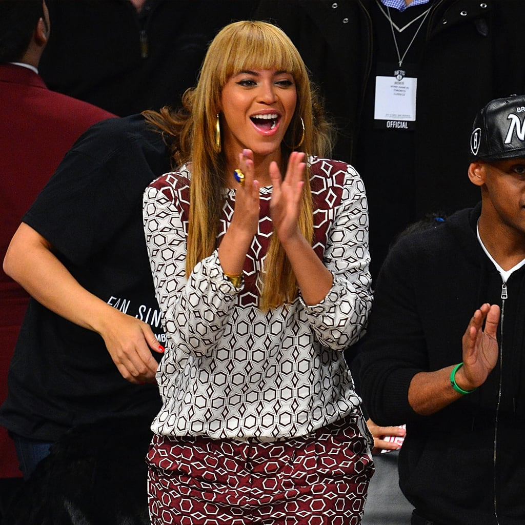 Best Celebrity Courtside Style At Basketball Games: Beyoncé