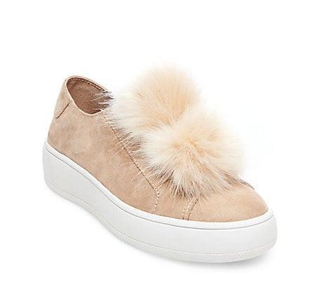 45cbe3f5526 Steve Madden Bryanne ($80) | Pom-Pom Sneaker Trend | POPSUGAR ...