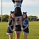 """Despite the setback, it's been smooth sailing for Audrey ever since she joined the Mokena Burros junior varsity cheerleading team, an inclusive recreational program 30 miles outside of Chicago, IL.  Along with all the new friends she's made, the 13-year-old has also learned important lessons about teamwork and setting goals.  """"She absolutely learned what it means to be part of a team that loves and trusts each other,"""" said Jody. """"That friends can be counted on when fear takes over.  She learned how to set goals and reach them even when they seem unattainable. For example, she wanted to be a flyer but needed a strong core. She worked hard, stayed true to her goal and the coach put her in the center of the routine as a flyer."""""""