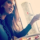 "Tyra Banks shared a photo of her ""power breakfast."" Source: Instagram user tyrabanks"