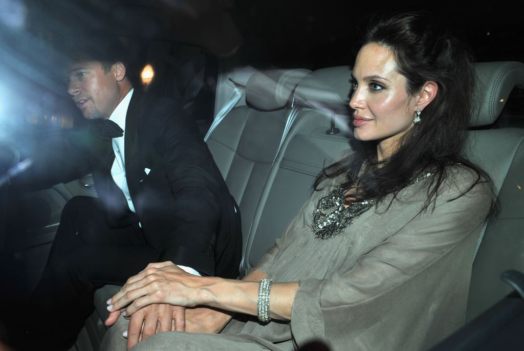 Brad Pitt and Angelina Jolie arrived holding hands at the 2008 Cannes Film Festival screening of Changeling.
