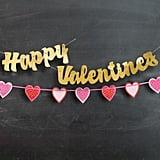 Script Happy Valentine's Banner