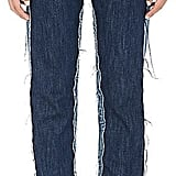 Maison Margiela Women's Deconstructed-Front Straight Jeans