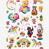 Lisa Frank x SpongeBob Sticker Sheet ($7)