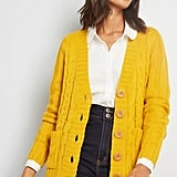 Modcloth Cable Knit Cardigan