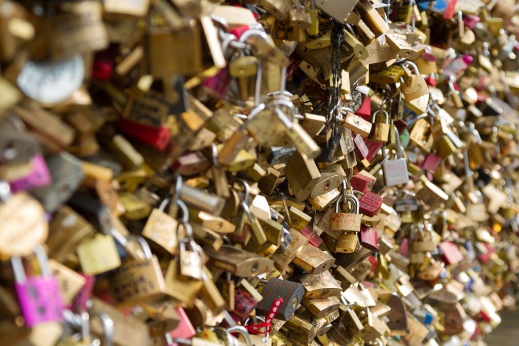 Add a Lock to the Love-Lock Bridge in Paris