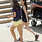 Anne Hathaway wore tennis shoes.