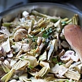 Whole30: Warm Artichoke and Mushroom Salad