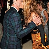 Beyoncé Knowles pecked Gavin Rossdale on the cheek inside the Met Gala.  Source: Billy Farrell/BFANYC.com
