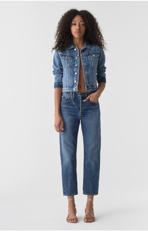 Agolde Parker Easy Straight Jean in Placebo