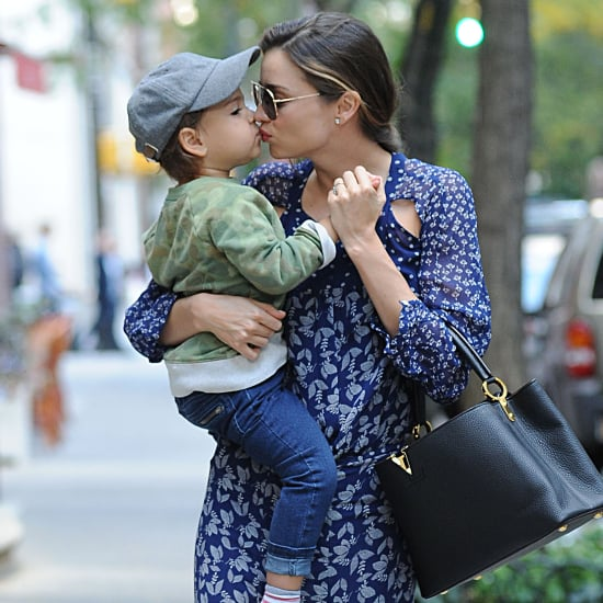 Miranda Kerr and Flynn Bloom Smiling in NYC
