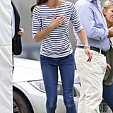 A Striped Bateau Top and Functional Jeans