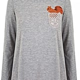 Yumi Lace Squirrel Print Long Sleeve Top (£45)