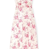 Les Reveries Floral-Print Silk-Charmeuse Midi Dress