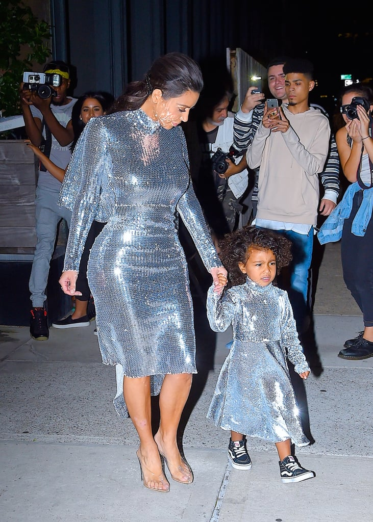Kim Kardashian and North West Out in NYC September