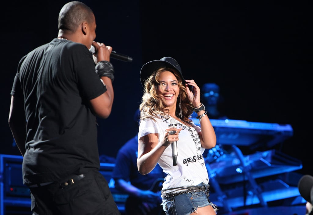 Jay-Z and Beyoncé were back on the stage to perform together at Coachella in April 2010.